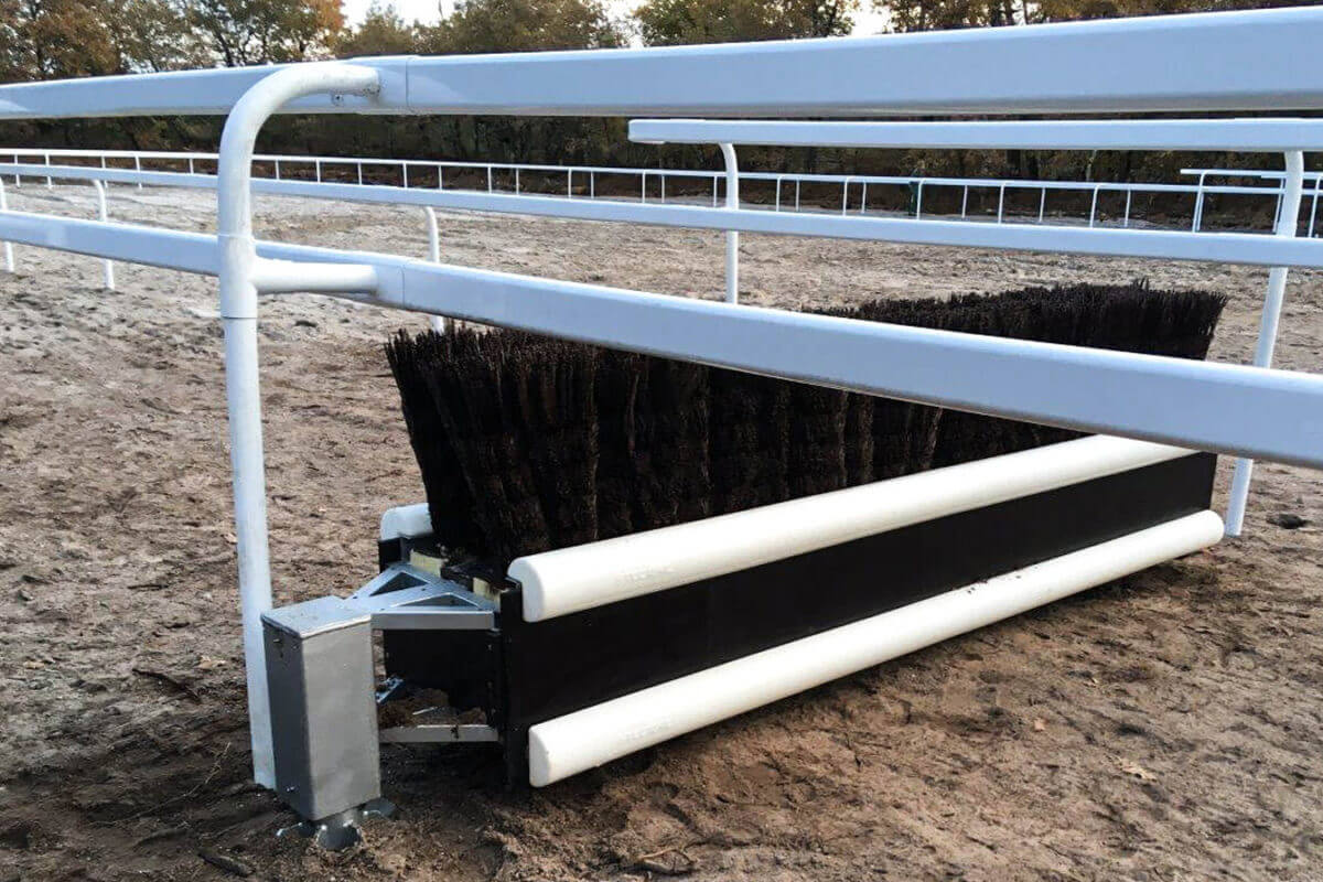 PVC Fencing Solutions 4 double race rails from easyfix equine ireland